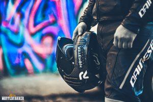 Echte Moppedfahrer Helmträger